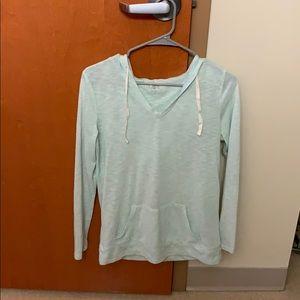 LOFT hooded long sleeve shirt